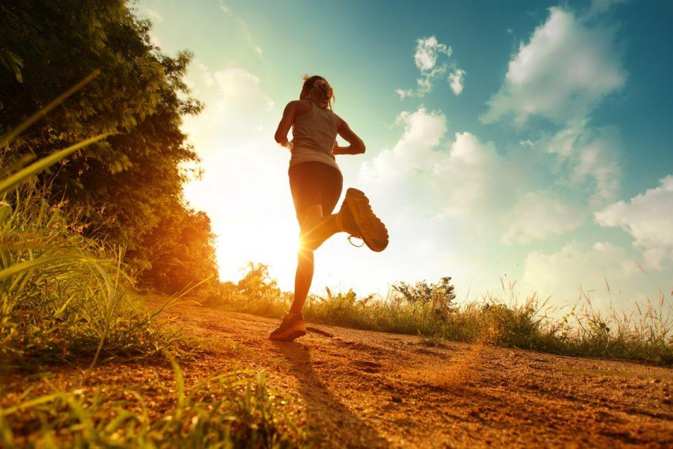 runner at daylight.