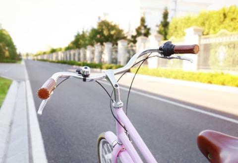 Bike on a road.