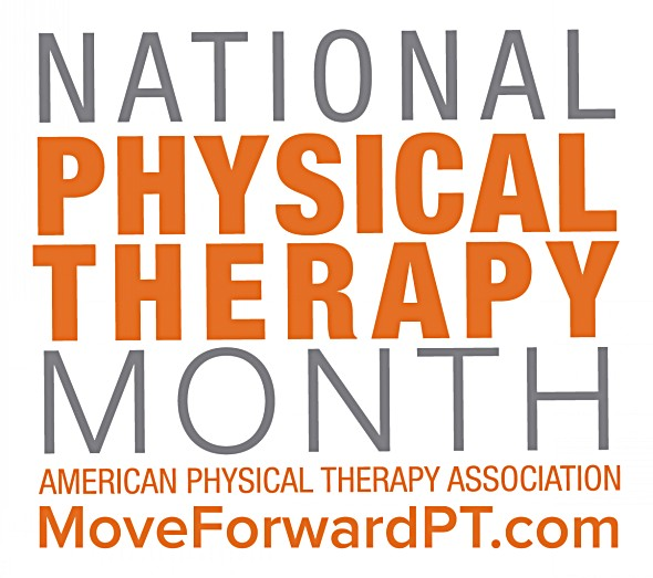 National Physical Therapy Month logo.
