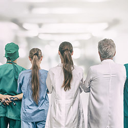Hospital physicians who may or may not be in network with BCBS