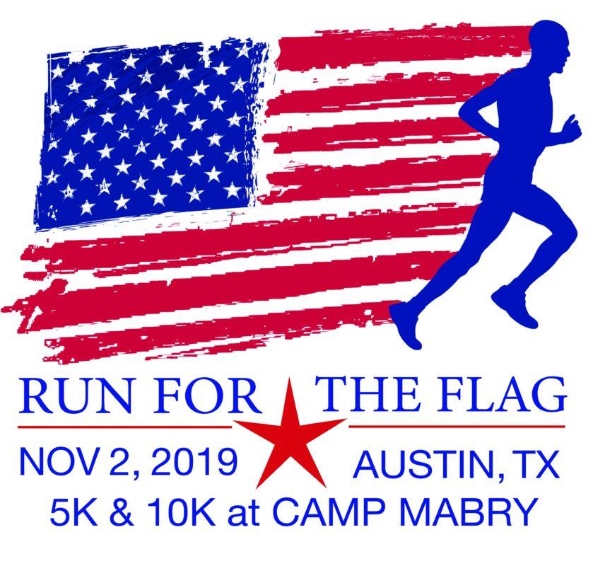 2019 Run for the Flag logo.