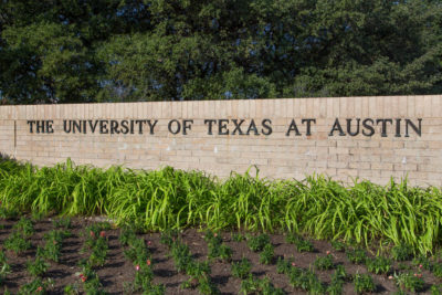 University of Texas at Austin sign.